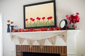 fall fireplace decor