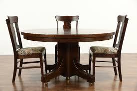 sold arts u0026 crafts mission oak antique round craftsman dining