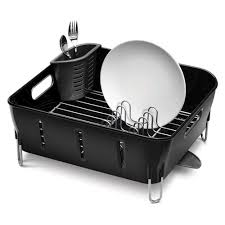 Plastic Dish Drying Rack Decor U0026 Tips Black Compact Dish Drying Rack And Plate With