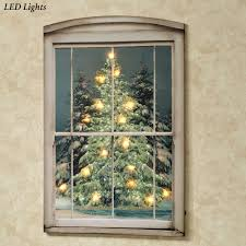 glistening pines led lighted canvas wall art