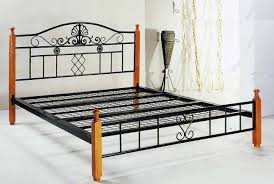 rod iron bed frames king strong and durable iron bed frames king