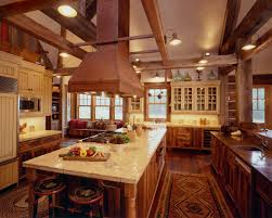antique country kitchen with rustic island u2013 home design and decor