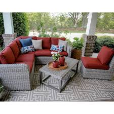Outdoor Living Furniture by Outdoor Sectionals Outdoor Lounge Furniture The Home Depot