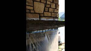 concrete fireplace mantel youtube