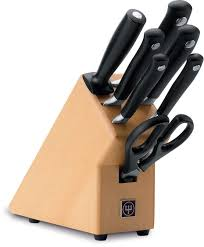 Kitchen Knives Wusthof Wusthof Grand Prix Ii Knife Block Set With 7 Pieces Mimocook