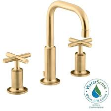 kohler purist 8 in widespread 2 handle mid arc bathroom faucet in