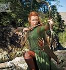 Evangeline Lilly as elf warrior Tauriel in The Hobbit: The