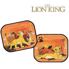 2 x disney the lion king window car sun shades uv blinds children
