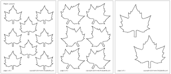 leaves printable templates u0026 coloring pages firstpalette