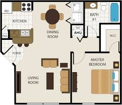 2 Bedroom 1 Bath Floor Plans Floor Plans Choose From 1 2 Or 3 Bedrooms Timber Point Apartments