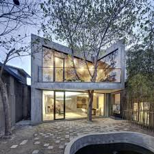 inspiring chinese home integrating a mature tree tea house