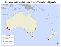 Blank Map Of Oceania by Coastal Eutrophic And Hypoxic Areas Of Australia And Oceania