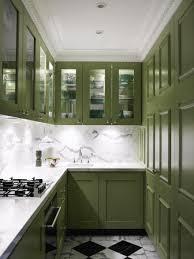 Crown Moulding Kitchen Cabinets Kitchen Dark Green With Small Kitchen Also Glass Door Kitchen
