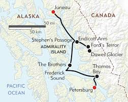 Juneau Alaska Map by Alaska U0027s Inside Passage Itinerary U0026 Map Wilderness Travel