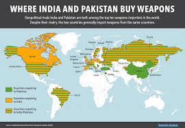 Pakistan On The Map This Map Shows Which Countries Export Weapons To India And