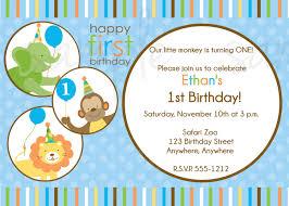 1st Year Baby Birthday Invitation Cards Templates Birthday Invite Wording