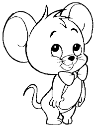 mouse coloring page