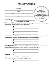 Resume Sample For First Job by Blank Resume Template For High Students Http Www