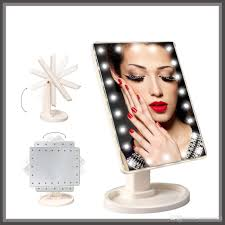 Light Up Makeup Mirror Led Makeup Mirror With 22 Built Lights Led Make Up Mirror For Desk