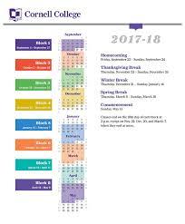 2017-2018 <b>Academic Calendar</b> - Cornell College