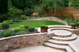 Patio Accents by Superb Modern Home Garden Idea With Brick Accents Also Patio Area