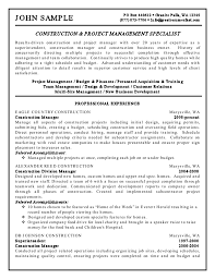 sample resume simple self employed resume examples free resume example and writing construction management resume