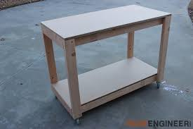 Plans For Building A Wooden Workbench by Easy Portable Workbench Plans Rogue Engineer