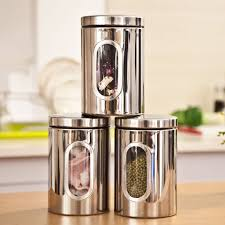 100 stainless steel kitchen canisters sets 100 black