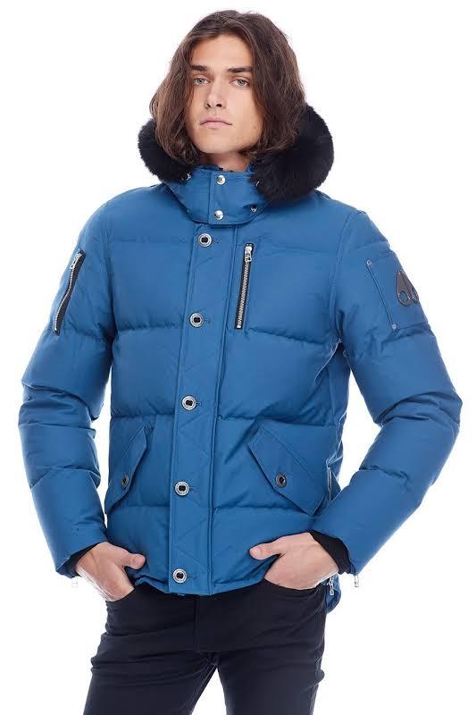 Moose Knuckles 3Q Jacket Chambray Blue / Black Fur S MK2228M3Q-525-S