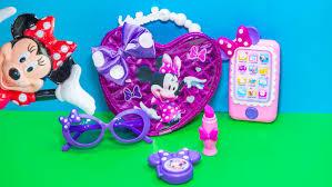 Minnie Mouse Toy Box Minnie Mouse Disney Bowriffic Bag Purse Set Minnie Mouse Video Toy