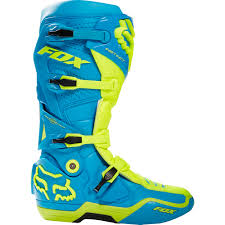 motocross boot straps new fox racing mx 2017 le instinct glen helen flo yellow teal