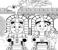 halloween full page thomas the train coloring pages hallowen