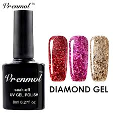 aliexpress com buy vrenmol free nail design glitter diamond gel