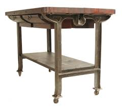 kitchen island table on wheels furniture rolling antique rustic butcher block island on wheels