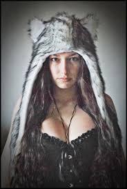 Wolf Halloween Costume Faux Fur Wolf Hat Hood Ears Animal Spirit Warrior Husky
