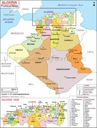 Spain Political Map by Political Map Of Algeria Algeria Provinces Map