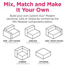 Build Your Own Sectional Sofa by Mix Modular Sectional 4 Pc Sectionals Gus Modern