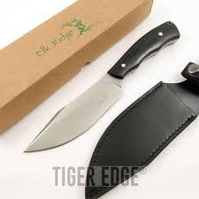 fixed blade knife elk ridge bushcraft black wood hunt tactical