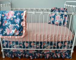 navy crib bedding etsy