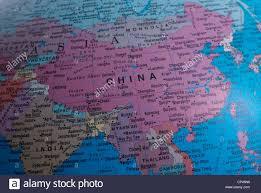 Fuzhou China Map by Close Up Of A Map Of China Stock Photo Royalty Free Image