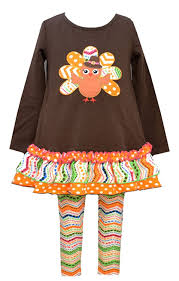 thanksgiving toddler clothes amazon com bonnie jean girls thanksgiving turkey dress