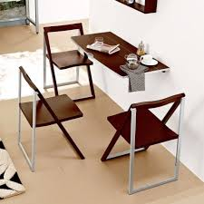 furniture brown wooden wall mounted fold out laptop table hanging