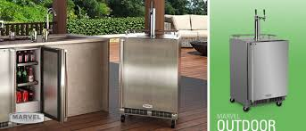 Beer Kegerator Marvel Outdoor Double Tap Mobile Kegerator With Door Lock