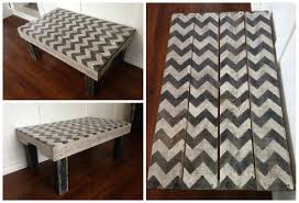 Repurposed Coffee Table by Chevron Painted Coffee Table Made From Repurposed Pallets U2022 1001