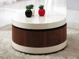 amazing of round coffee table with storage ottomans coffee table