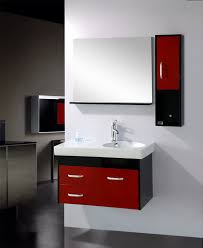 Hanging Bathroom Vanities by White Wall Paint Mirror Without Frame Small Real Wood Red And