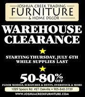 Home Decor Stores Oakville Joshua Creek Trading Furniture U0026 Home Decor In Oakville On 905