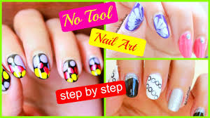 3 simple nail art how to do nail art at home step by step