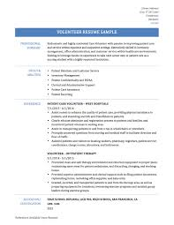 resume examples for job volunteer resume samples volunteer work and experience volunteer resume template