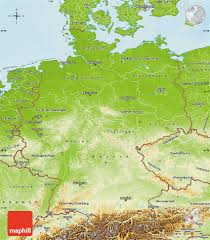 Map Germany by Physical Map Of Germany